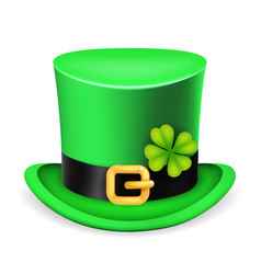 Top hat saint patrick day ireland feast 3d vector