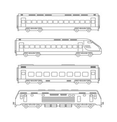 Trains line drawing vector