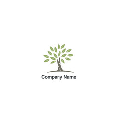 tree abstract organic nature company logo vector image