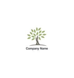 tree abstract organic nature company logo vector image