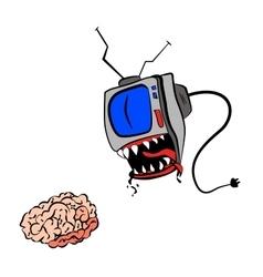 TV eat your brain vector