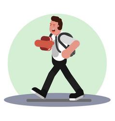 walking in uniform vector image