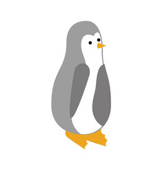 christmas penguin animal decoration funny vector image