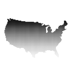Halftone map of USA vector image