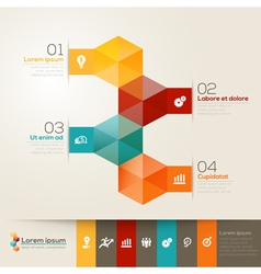 Isometric Shape Design Layout vector image vector image