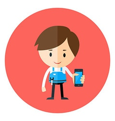 Phone being Repaired by Technician vector image vector image