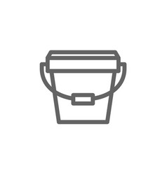 simple bucket icon symbol and sign vector image vector image