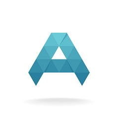 A letter logo template Triangle polygons style vector image vector image
