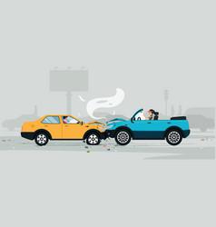 car crash vector image vector image