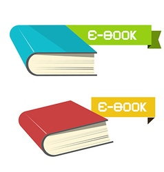 E-book Icons vector image vector image