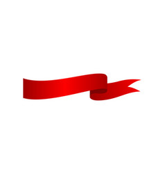 red festive closeup ribbon isolated icon vector image vector image