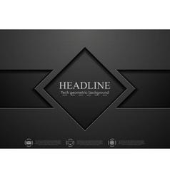 Tech black concept corporate design vector