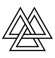 valknut viking age symbol geometric design vector image vector image