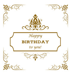 vintage birthday card vector image