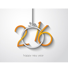 2016 Merry Chrstmas and Happy New Year Background vector image