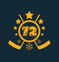 72 number vector image vector image