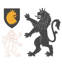 Black Lion vector image vector image