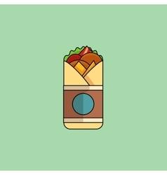 Chicken Roll in minimalist style vector image