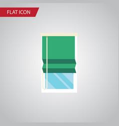 isolated glazing flat icon balcony element vector image