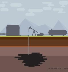 Nodding donkey oil production vector