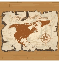 old parchament Map of North America vector image vector image