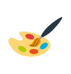 paint pallette isolated icon vector image vector image