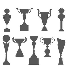 trophy icons isolated on white background award vector image