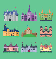 cartoon fairy tale castle key-stone palace vector image