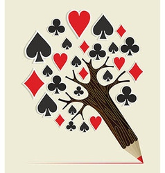 Casino poker concept tree vector