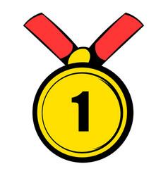 champion gold medal icon icon cartoon vector image vector image
