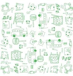 Doodle school education hand draw vector