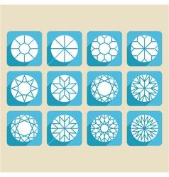 set of cutting samples diamonds gemstones vector image
