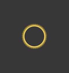 solar eclipse vector image