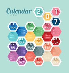 2017 Calendar Calendar Hexagon geometric vector