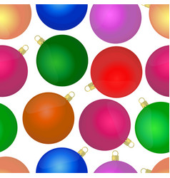 3d realistic glass balls seamless pattern vector image