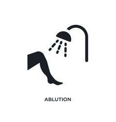 Ablution isolated icon simple element from vector