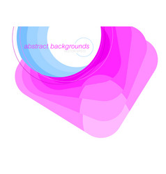 abstract pink and blue shapes scene vector image