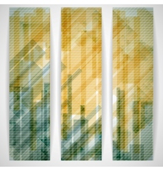 Abstract Yellow Rectangle Shapes Banner vector image