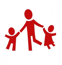adult and two children vector image vector image