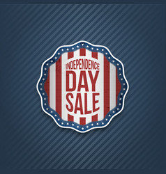 american independence day sale realistic banner vector image