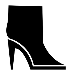 Ankle boots icon simple style vector