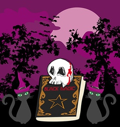black magic book - abstract for halloween vector image