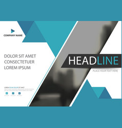 Blue flyer cover business brochure template vector