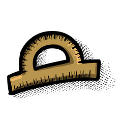 cartoon image of protractor vector image