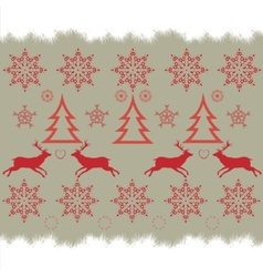 Christmas embroidery cross-stitch pattern with vector