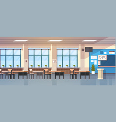 class room interior empty school classroom with vector image