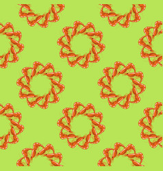 Cooked red shrimps seamless pattern vector