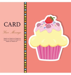 cupcakecard vector image