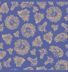 dandelion paper plant seamless pattern illu vector image