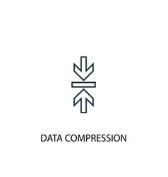 data compression concept line icon simple element vector image